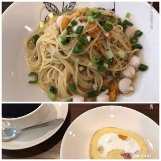 生ウニと小柱のパスタセット(イタリアン 亀戸 Osteria Hana (オステリア ハナ))
