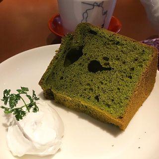 抹茶のシフォンケーキ(オレンジカフェ (Orange Cafe))