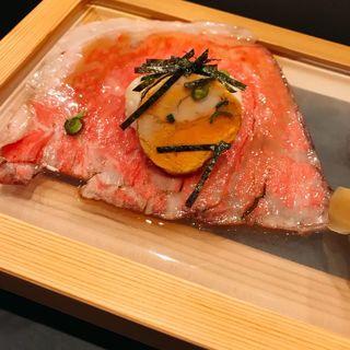 あん肝とサーロインの肉寿司(29ON 池袋店)