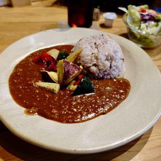 十六穀米カレーセット(昭和サロン)
