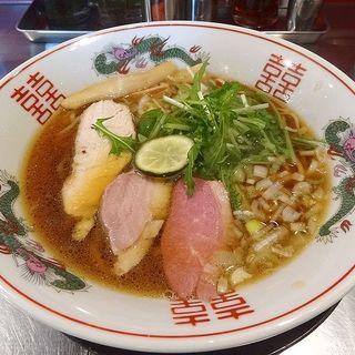 鴨鶏骨中華そば(醤油)(武者麺の変)