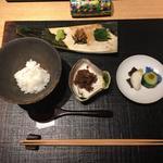 和牛佃煮と御飯 「新潟県雪椿」お茶漬け変化