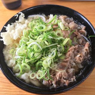 肉うどん(天ぷらうどん)