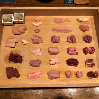 鶏刺し25種盛り(熊の焼鳥 )