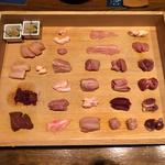 鶏刺し25種盛り