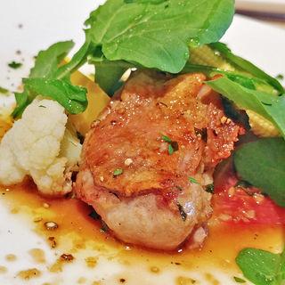 大山鶏のオーブン焼き シェリービネガーソース(PICCOLA MONTAGNA)