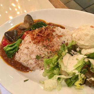 季節野菜のキーマカレー(マルノウチ カフェ × ワイアードカフェ (Marunouchi Cafe × WIRED CAFE))