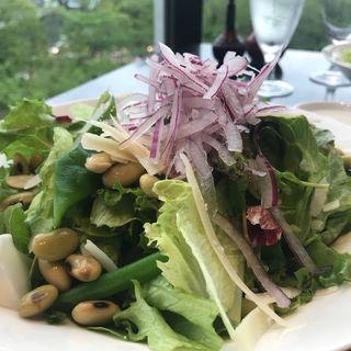 信州豆と葉野菜のサラダ(酢重ダイニング 六角 東京ミッドタウン店 (ロッカク))