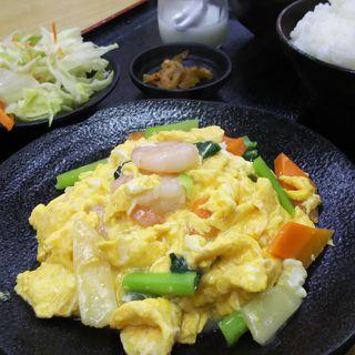エビと玉子炒め定食(香楽園 蒲田西口店 (コウラクエン))