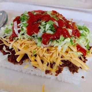タコライスチーズ野菜(キングタコス 普天間店)