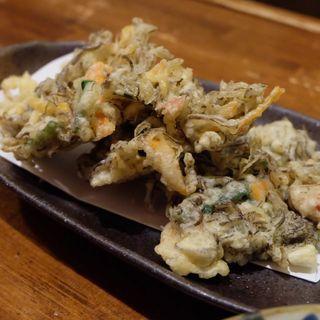 もずくの天ぷら(ゆうなんぎい)