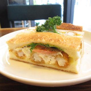 海老フライサンド(ワーズカフェ (words cafe.))