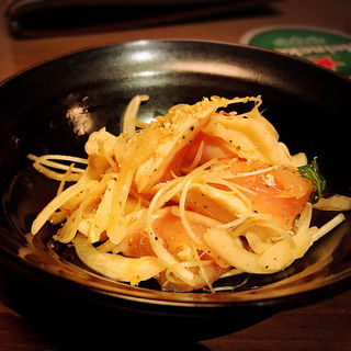 大山鶏のネギ塩ユッケ(らんぷ )