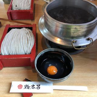 天ぷら釜揚げ蕎麦(卵味、一斤半)(粉太呂 )
