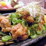 鶏のネギ塩唐揚げ(名古屋コーチン専門居酒屋 尾張邸 人形町店 )