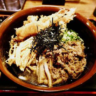 肉天ぷらぶっかけうどん(手打ち饂飩にしき )