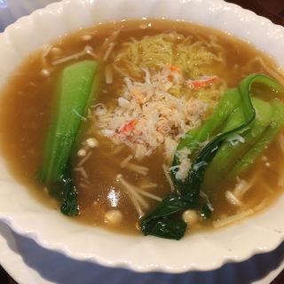 フカヒレと蟹肉スープのそば(煌家 (コウカ))