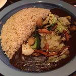 野菜炒めカレー