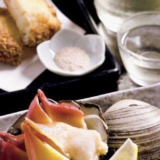 熊本名物オランダ揚げ ホッキ貝バター焼き(鮨 でですけ )
