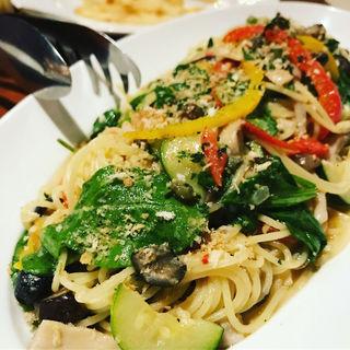 季節の野菜パスタ(Banks cafe & dining 渋谷 (バンクスカフェアンドダイニング))