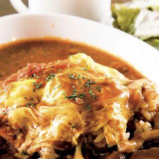 ハーフ&ハーフ(こくうまハヤシとトマトソース、スープ・サラダ付き)(Dining Bar Arrays (アレイズ))