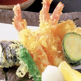 季節野菜と海老・穴子の天麩羅(不風流 )