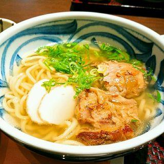 軟骨ソーキそば定食(沖縄料理 あだん)