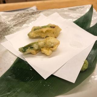 タラの芽の天ぷら おまかせコースの一品(みさき )