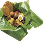 スリランカカレーの バナナリーフ包み