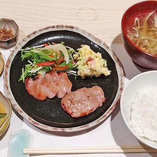 豚ヒレ西京焼 蓮根団子汁(鮨かやの )