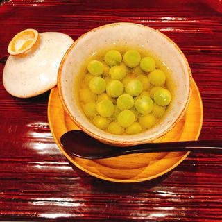 翡翠豆の茶碗蒸し