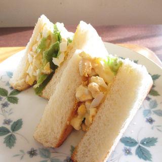たまごトーストサンドセット(喫茶いのん )