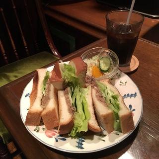 トーストサンドセット(珈琲の森)