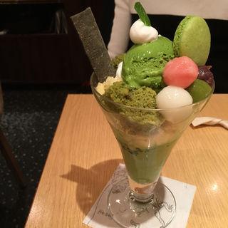 抹茶パフェ(本家 西尾八ツ橋 祇園北店 )
