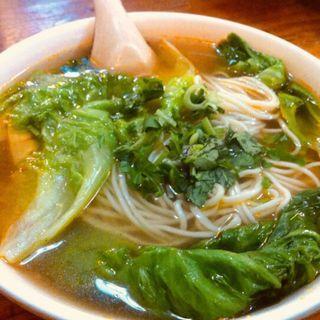 青菜湯面(蘭州拉麺館)