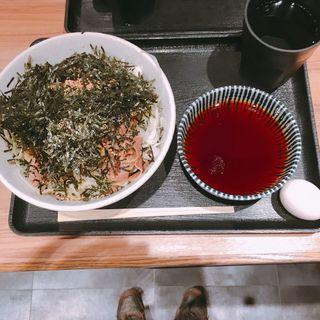 俺の肉そば(冷)(そば 俺のだし GINZA5)