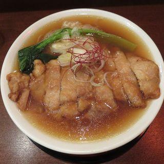 鶏排骨麺(鳥工房 地どりや (とりこうぼうじどりや))