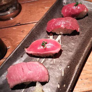 赤身4種盛り合わせ(バル肉寿司 蒲田店 )