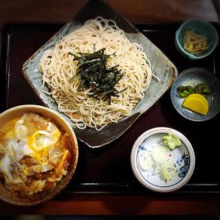 牛とじ丼セット(朝日屋そば店)