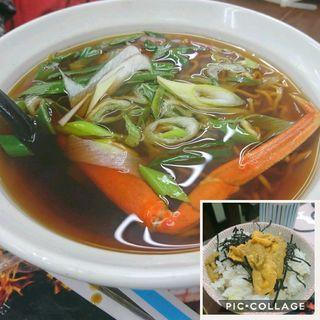 ウニ丼 蟹らーめんセット(俺のジンギスカン 堺町通り店)