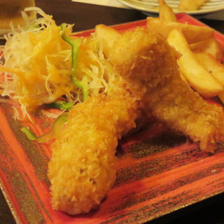 下関ふぐのフィッシュ&チップス(大皿料理 小箱 浦本)