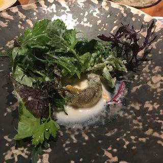 稚鮎のアホブランコサラダ(スペイン料理aca)
