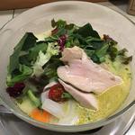 十六野菜の春のベジ味噌+蒸し鶏