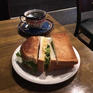 エッグトーストモーニング(Cafe 季庵 Sweets Room 松井山手店 (カフェ ぎあん スウィートルーム))