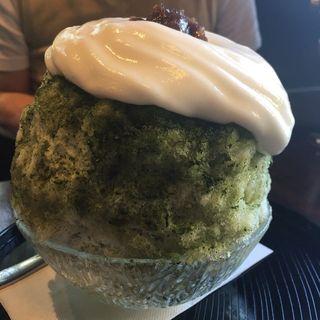 杏仁エスプーマ抹茶(開元カフェ (Kaigen cafe))