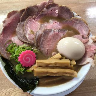 沖縄1号(限定)麺大盛 ニク増し 半熟煮玉子 メンマ増し(ぶたのほし (TONKOTSU BABY))