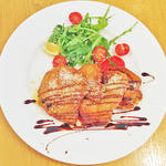 ハーブ豚ロース肉のミラノ風カツレツ