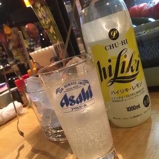 ハイリキ レモン(釧路 炉端ダイニング ファミリー)