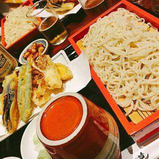 野菜天ぷらせいろ(おそば 古道 (増田屋))