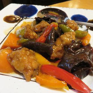 黒酢のスブタ(小料理 はかた伊達)